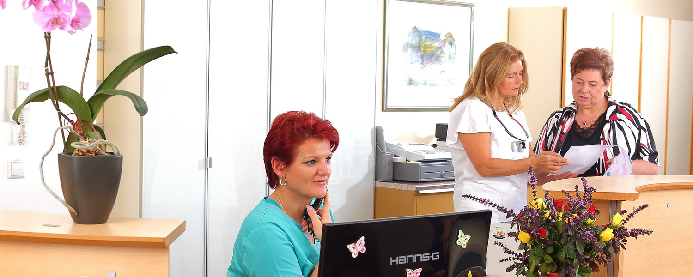 Rezeption, Praxis Dr.Veigel und Partner, Rheinau